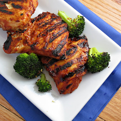 grilled barbecue chicken with DIY barbeque sauce