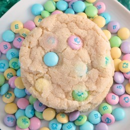 Chewy M&M Sugar Cookies | alidaskitchen.com