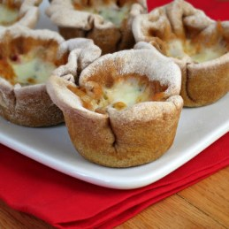 Mini Deep-Dish Pizzas made in a muffin tin