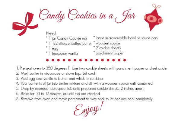 Candy Cookies in a Jar-instructions