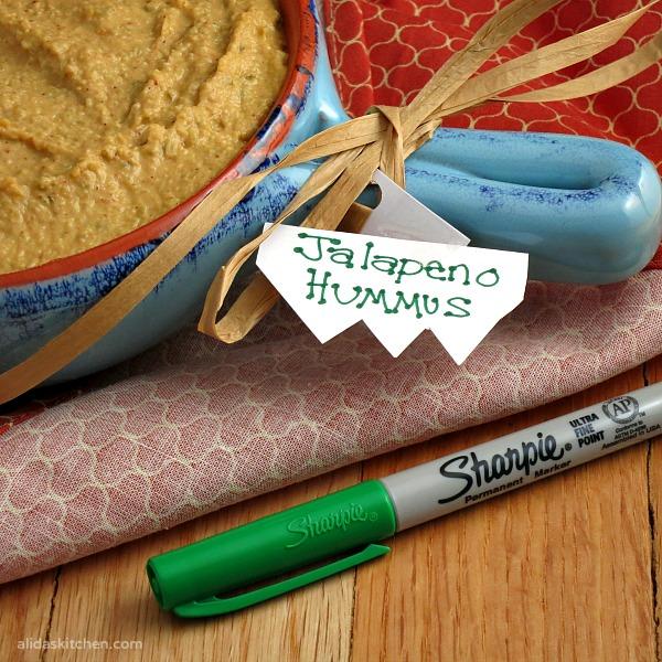 Jalapeno Hummus | alidaskitchen.com #RubbermaidSharpie #PMedia #ad