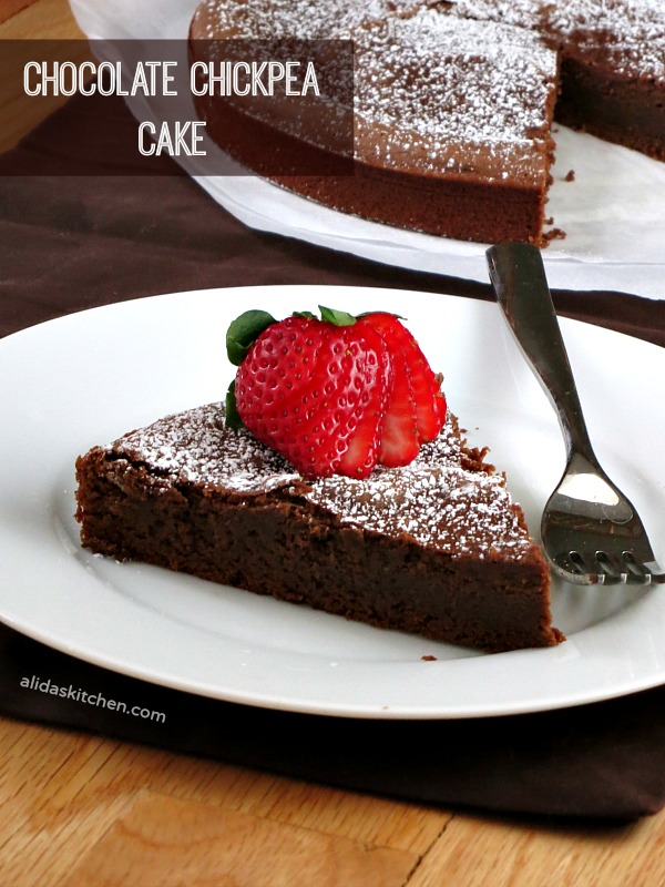 Chocolate Chickpea Cake | alidaskitchen.com #recipes #chocolate #glutenfree #eatatozchallenge