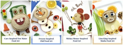 Disney Food Art with Smucker's Uncrustables