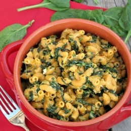 Stovetop Spinach Macaroni and Cheese | alidaskitchen.com