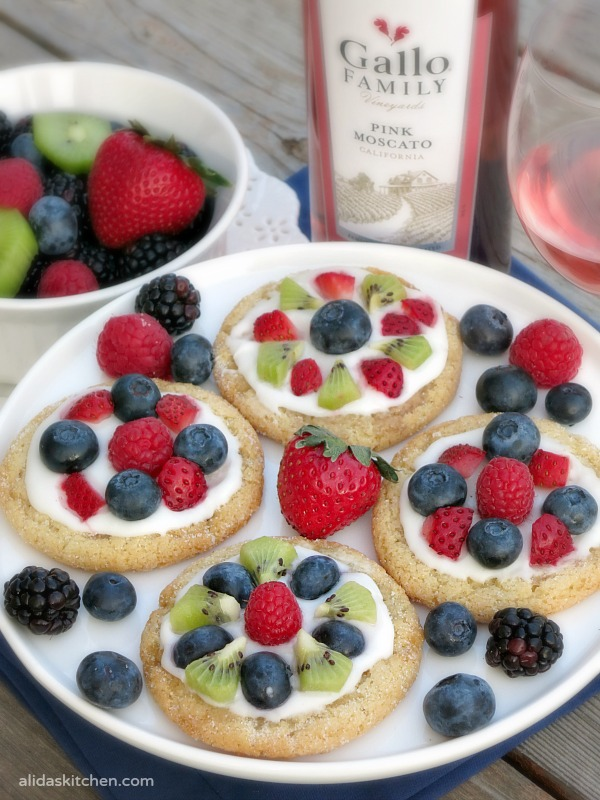 Sugar Cookie Fruit Tarts | alidaskitchen.com