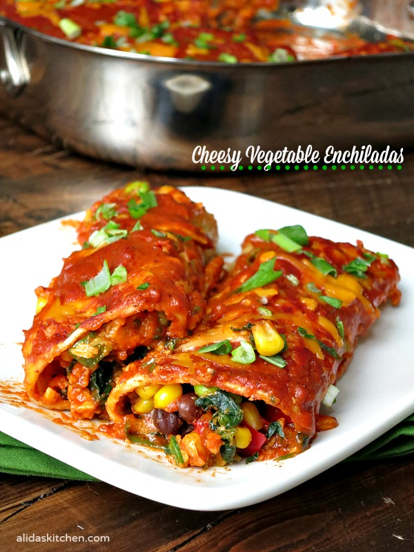 Enchiladas Veggie Black And Bean