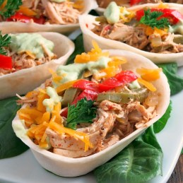Slow Cooker Beer Chicken Fajitas | alidaskitchen.com