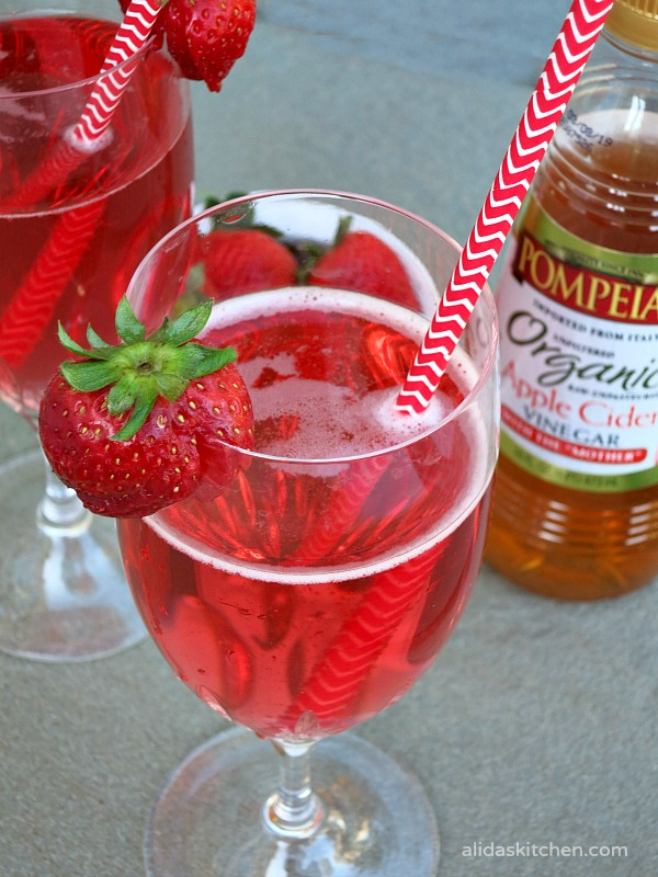 Apple Cider Vinegar Berry Sparkler | alidaskitchen.com