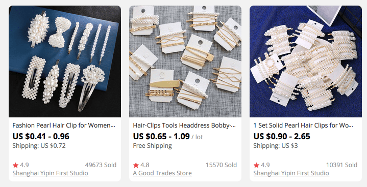 Hair clips and pins