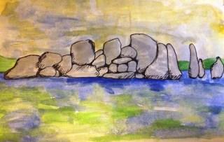 Rocks in Lake Victoria, Mwanza