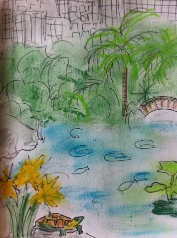 Morning stroll in Hong Kong Park from my Hong Kong Sketchbook