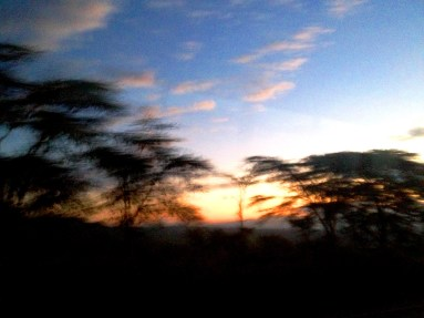 Sunrise in the Great Riff Valley, Kenya