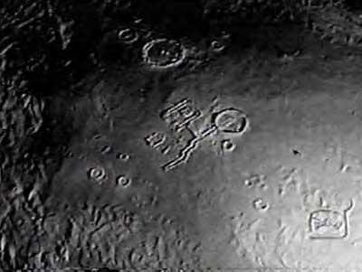 Alien Moon Base from a Distance