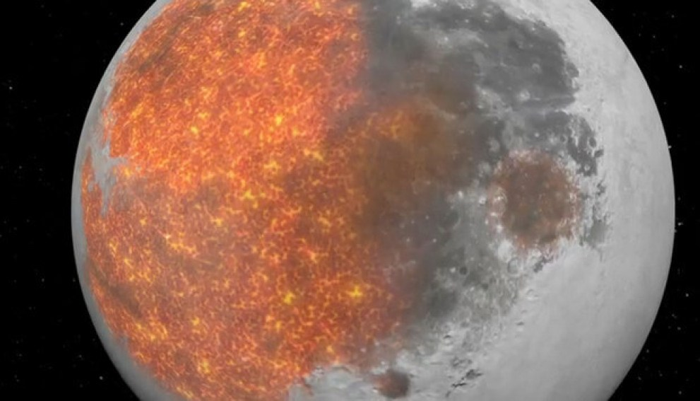 NASA's funky animation shows off the evolution of the Moon