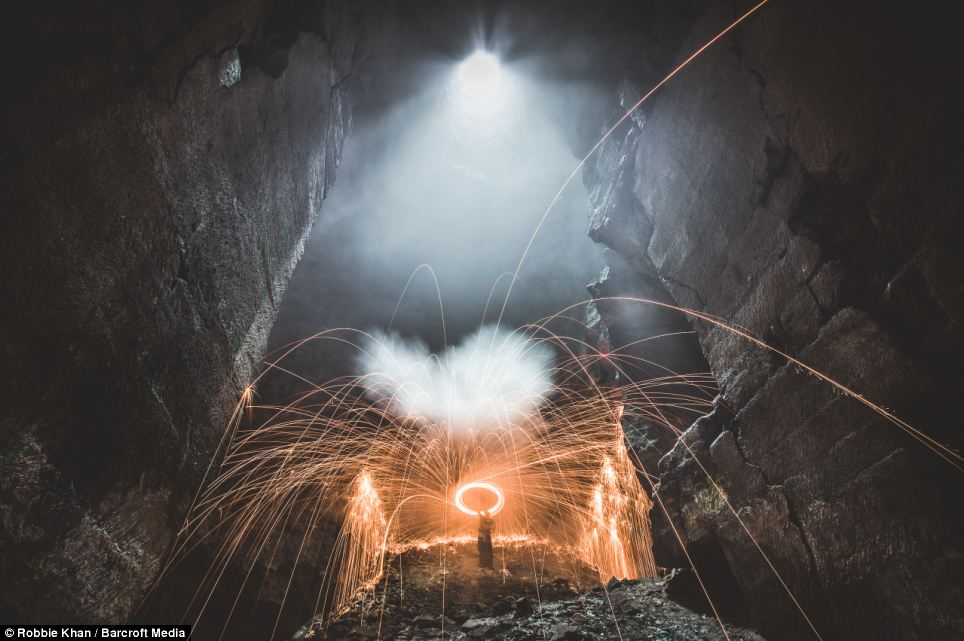 Incredible pictures of the 125ft tall underground 'cathedral' that is actually an abandoned mine in Wiltshire