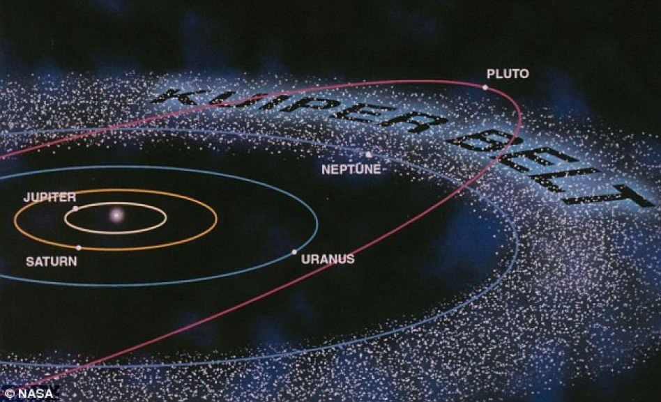 The Kuiper belt lies on the outskirts of our solar system, and calculations imply a planet also lurks out there