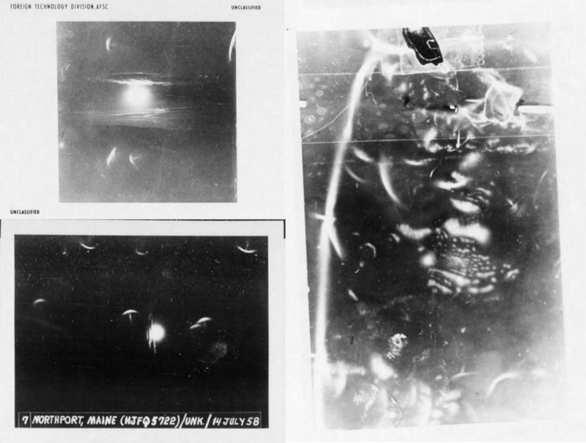 The image on the right was likely distorted due to radiation from a UFO — or because cameras in the 1950s were just not very good.