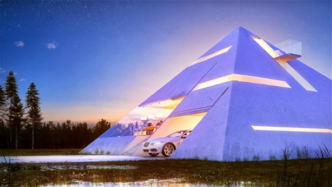 Pyramid Shaped House Makes You Feel Like An Ancient Egyptian Emperor