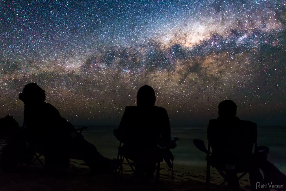 But you don't need a radio telescope to enjoy the Milky Way: do as these dudes do at Greenhead, WA.