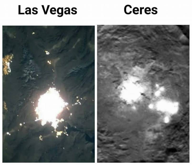 Ummm... Is that an Alien city on Ceres?