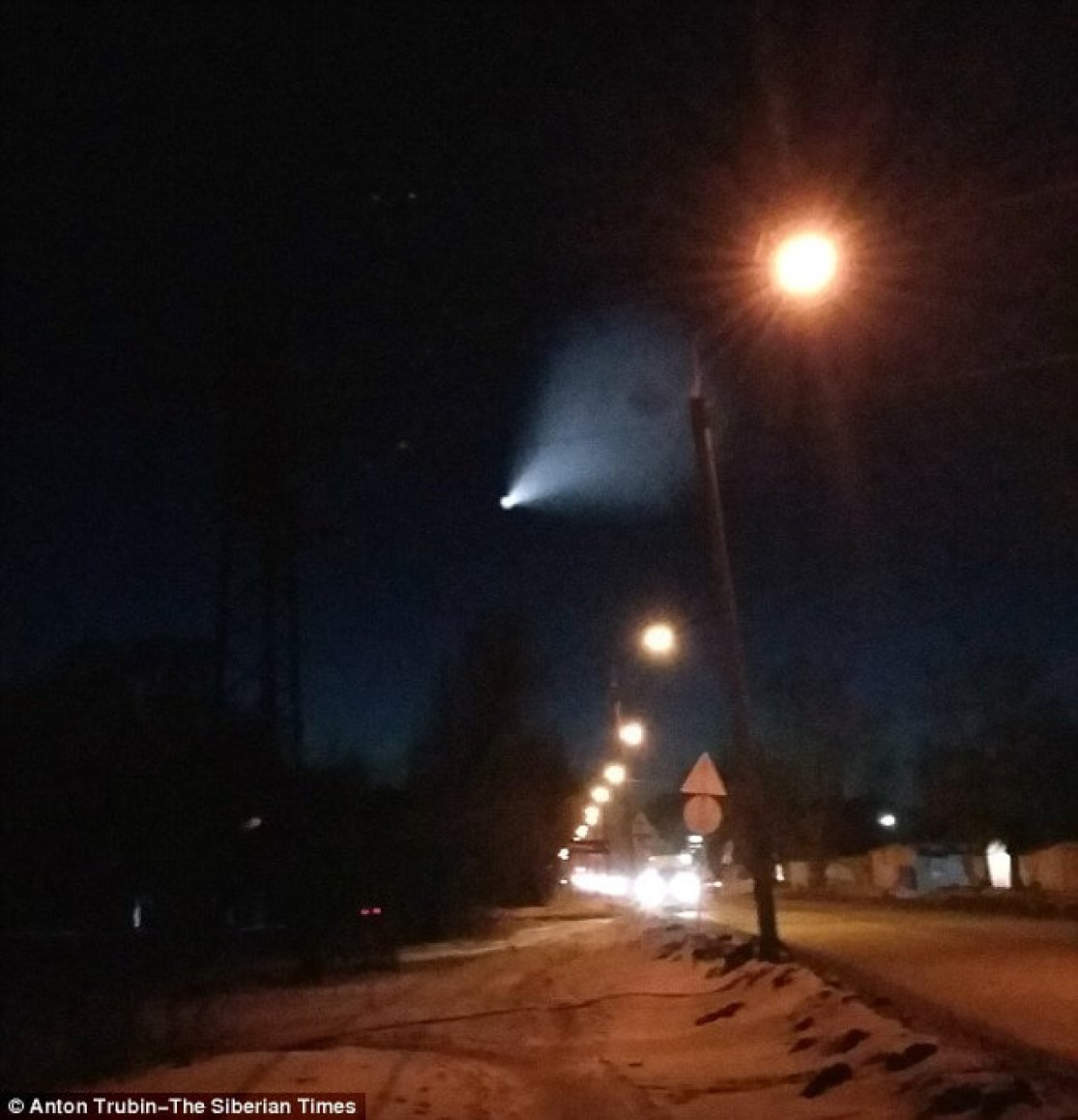 Cutting through the night skyline, the mystery object was witnessed by plenty of surprised bystanders