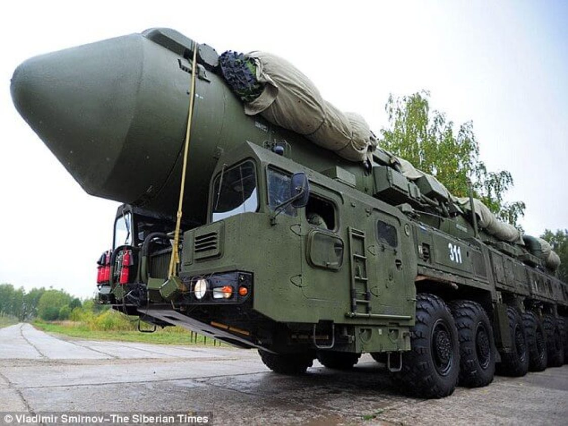 It has been suggested that the 'UFO' may have actually been a Topol M missile (pictured)
