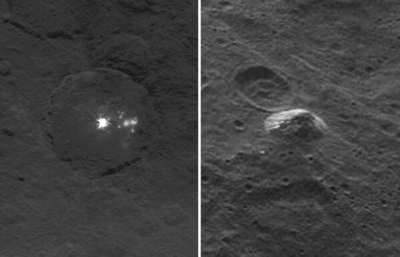 Bright lights that cannot be explained... a huge pyramid sticking out of nowhere... Ceres is as mysterious as it gets.