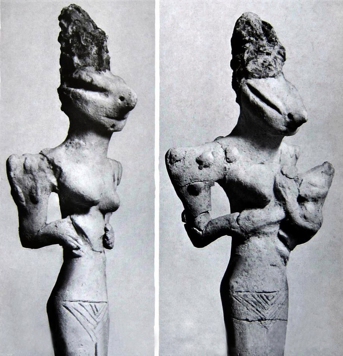 Clay-figurines-with-reptilian-looking-heads-Ubaid-period-5900BC-4000BC