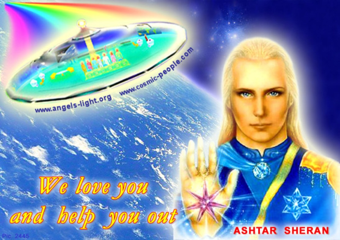 A religious image created by one of the thousands of modern-day followers of Ashtar and his galactic government.
