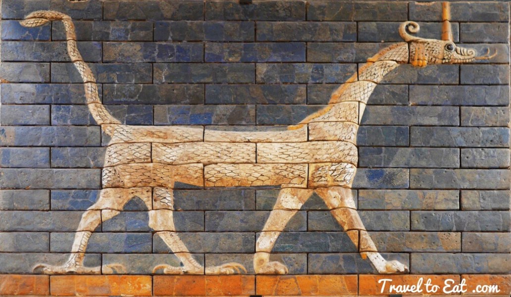 Mušḫuššu or Dragon of Marduk, Relief from Ishtar Gate. Istanbul Archaeology Museum, Turkey