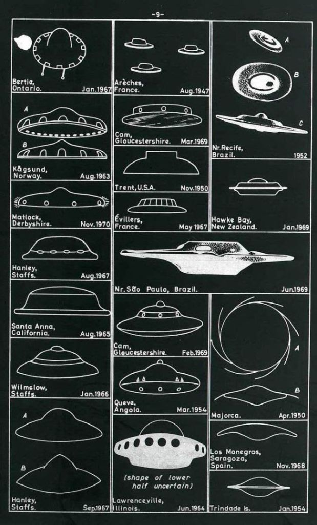 Reported UFOs take on all shapes and sizes.