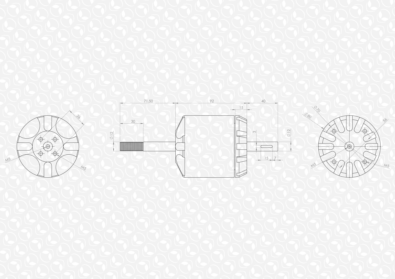 C Outrunner Brushless Motor 80kv W