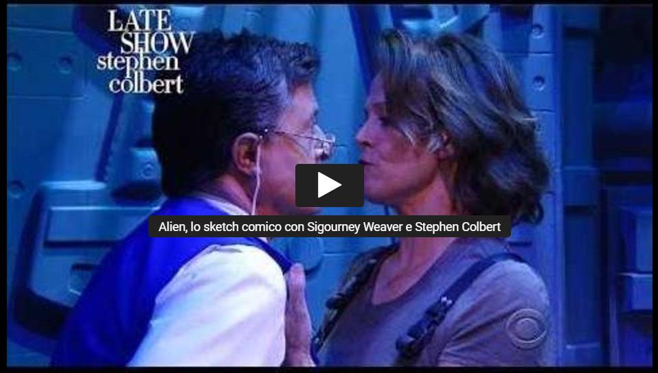 Ripley al Late Show di Colbert (2017)