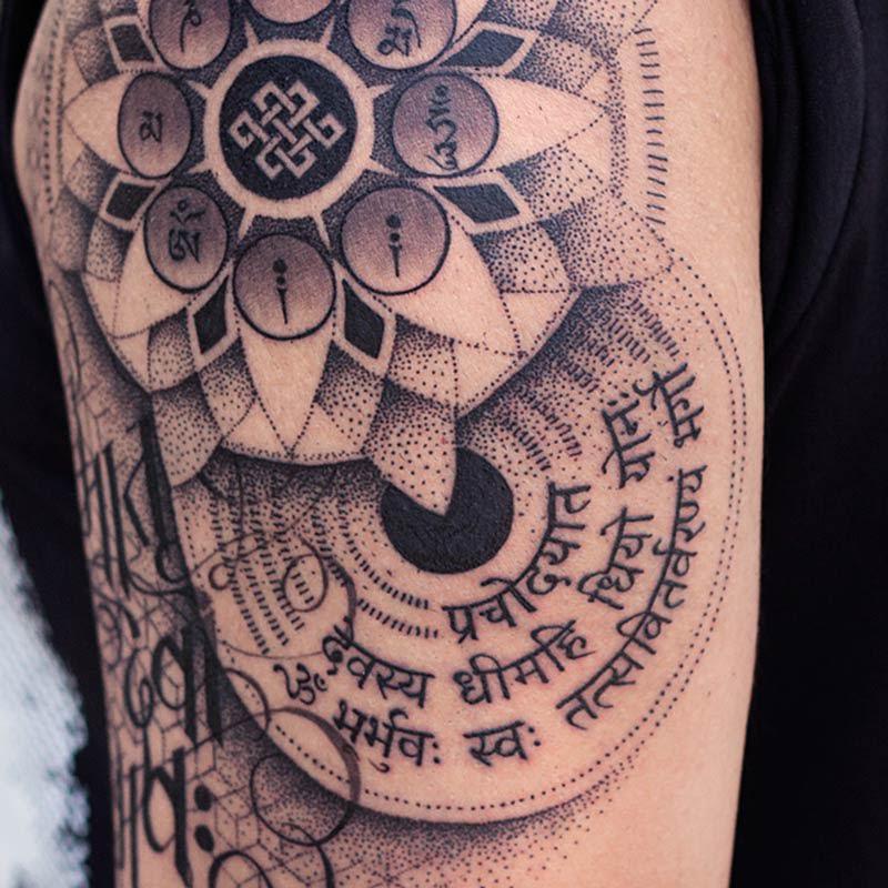 Sanskrut Mrutyunjay Mantra Tattoo