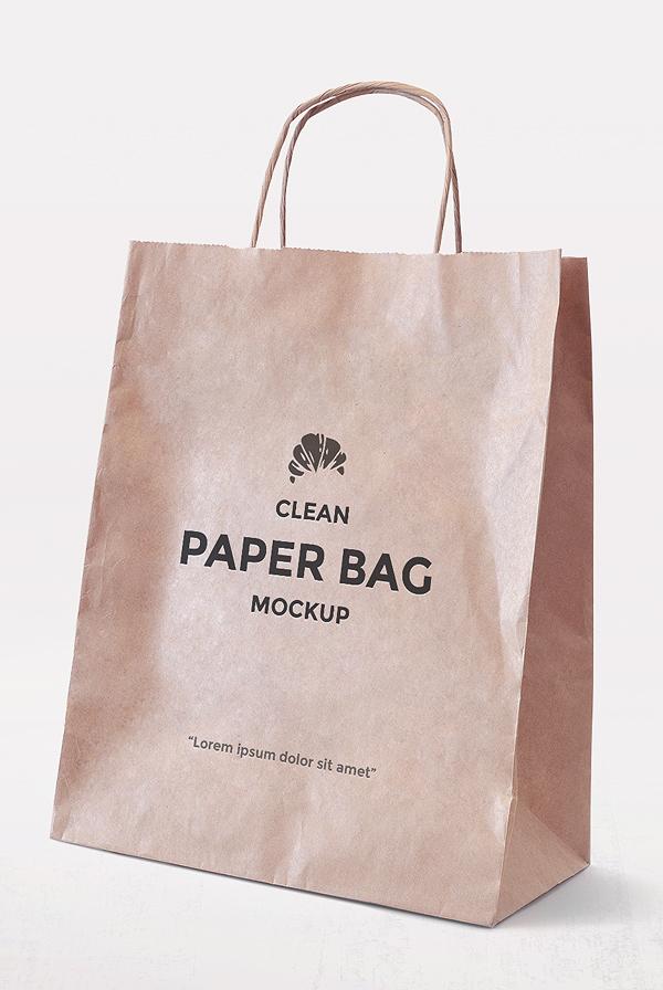 Download Simple Paper Bag Mockup | AlienValley