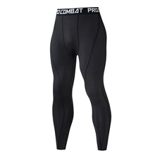 Compression leggings Track suit Men Sportswear Fitness Clothes Solid color pants Long Underwear Sports lycra Tights long john