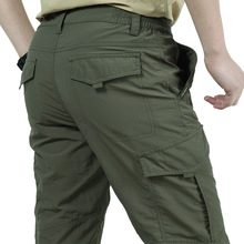 Men lightweight Breathable Quick Dry Pants Summer Casual Army Military Style Tactical Cargo Pants Waterproof Trousers