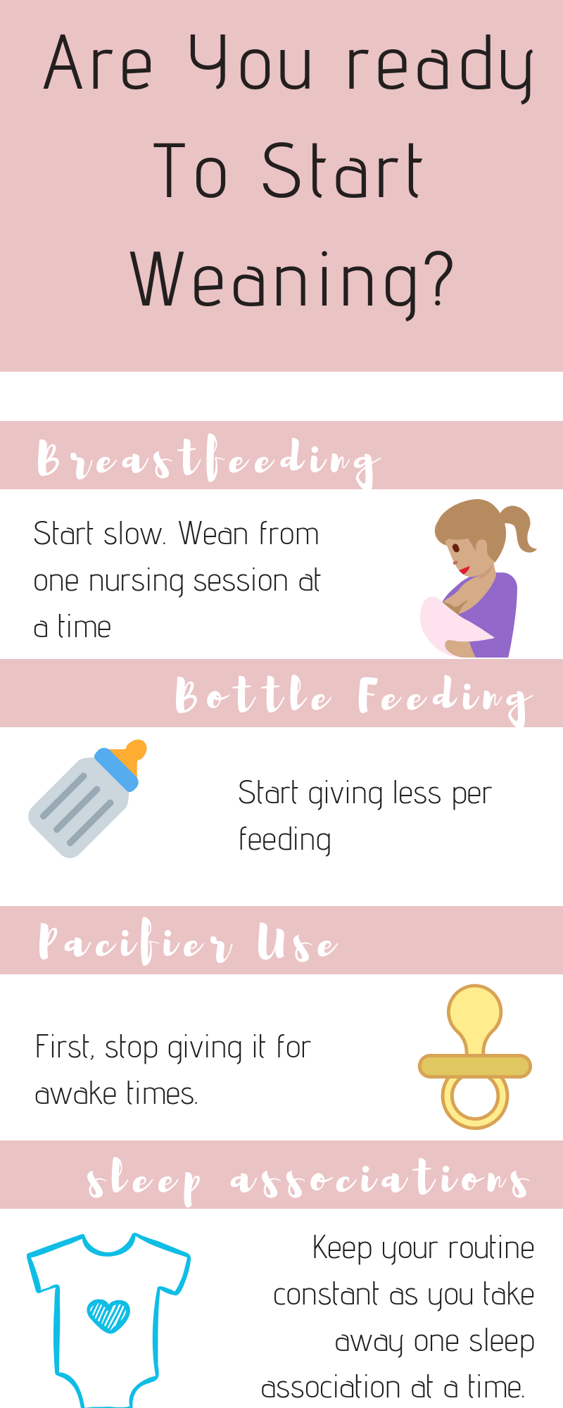 Tips to wean baby from breastfeeding and common sleep associations / how to wean your baby