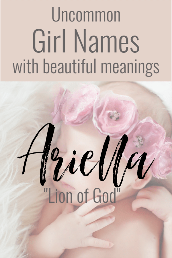 Girl Names Baby Bible Meanings And