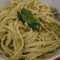 Easy pasta with nuts and herbs