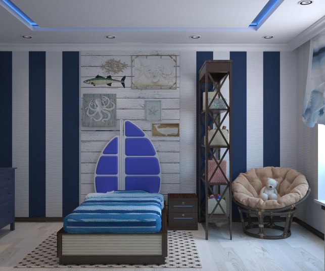beach themed bedroom
