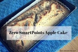 Zero SmartPoints Apple Cake
