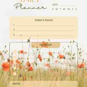 Poppy Field daily weekly monthly planner