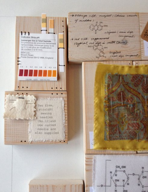 Drilling Textile Conservation commission by Ali Ferguson