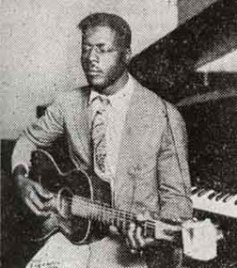 The only known photograph of Blind Willie Johnson