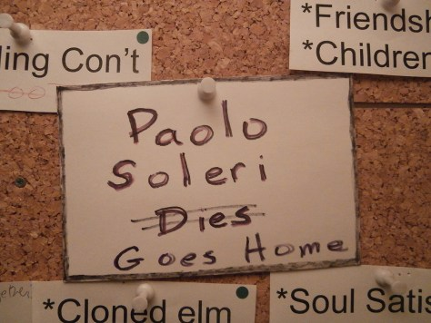 Paolo Soleri Goes Home