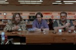 Jeff Bridges as Jeff Lebowski, Steve Buscemi and John Goodman in the film The Big Lebowski.