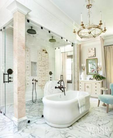 Master Bathroom by Clay Snider Interiors, Design Galleria Kitchen & Bath Studio