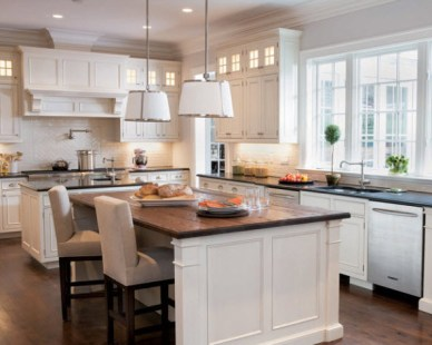 Double Island Kitchen by Skye Kirby, Elle Decor