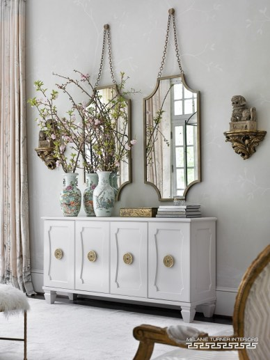 Master BR Walls, Mary McDonald Collection, designed by Melanie Turner Interiors